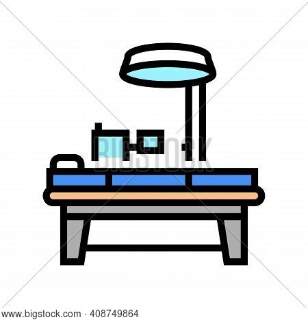 Operating Table Color Icon Vector. Operating Table Sign. Isolated Symbol Illustration