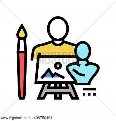 Art Expert Color Icon Vector. Art Expert Sign. Isolated Symbol Illustration