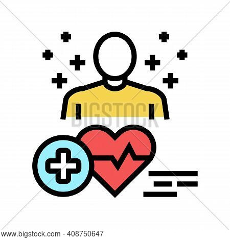 Medical Expert Color Icon Vector. Medical Expert Sign. Isolated Symbol Illustration