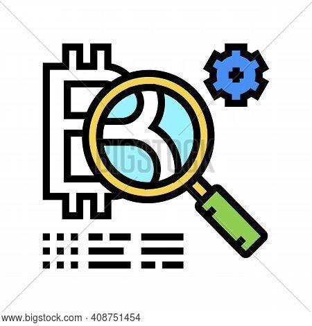 Token Development Ico Color Icon Vector. Token Development Ico Sign. Isolated Symbol Illustration