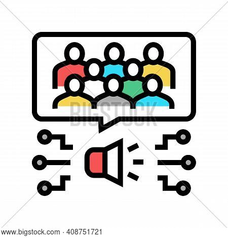 Opinion Employees Color Icon Vector. Opinion Employees Sign. Isolated Symbol Illustration
