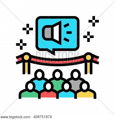 Event Pr Color Icon Vector. Event Pr Sign. Isolated Symbol Illustration