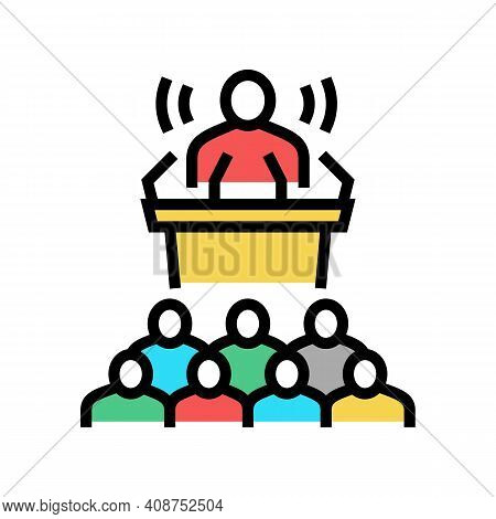 Press Release Color Icon Vector. Press Release Sign. Isolated Symbol Illustration