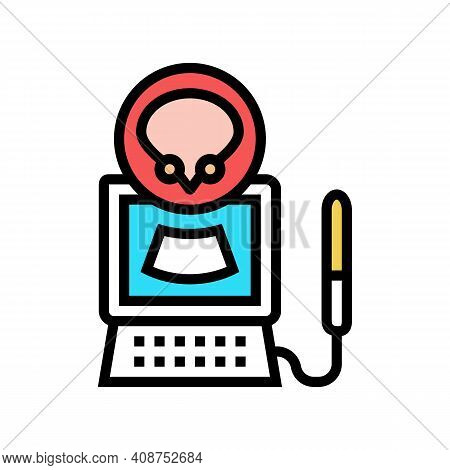 Ultrasound Of Bladder Color Icon Vector. Ultrasound Of Bladder Sign. Isolated Symbol Illustration