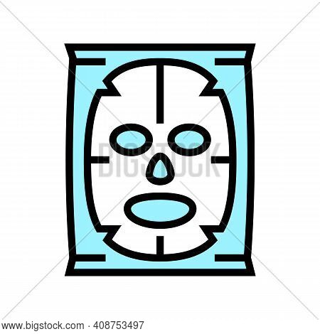 Facial Mask Beauty Accessory Color Icon Vector. Facial Mask Beauty Accessory Sign. Isolated Symbol I