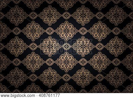 Oriental Vintage Background With Indo-persian Ornaments. Royal, Luxurious, Horizontal Textured Wallp