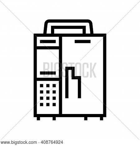 Infusion Pump Line Icon Vector. Infusion Pump Sign. Isolated Contour Symbol Black Illustration