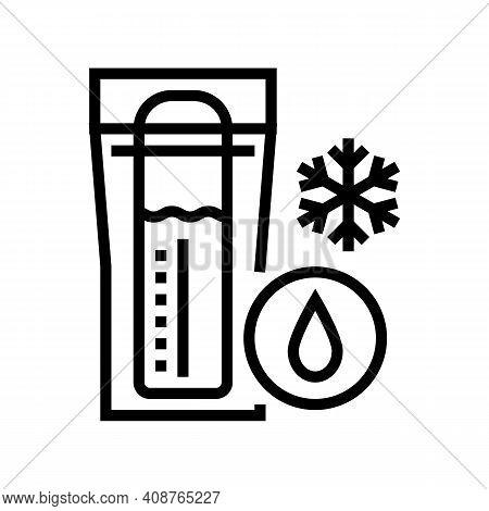 Freezing Milk Storage Line Icon Vector. Freezing Milk Storage Sign. Isolated Contour Symbol Black Il