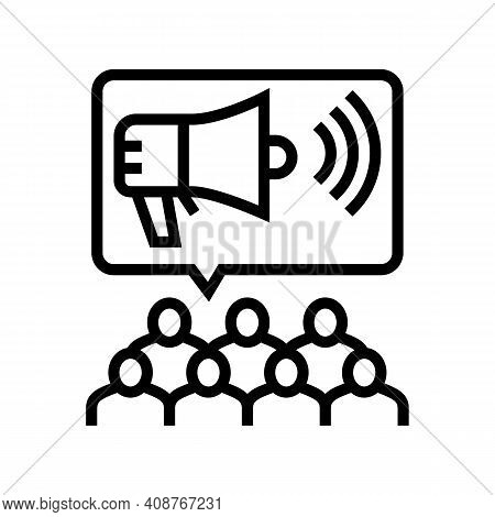 Public Relations Line Icon Vector. Public Relations Sign. Isolated Contour Symbol Black Illustration
