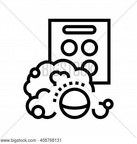 Aqua Bombs Line Icon Vector. Aqua Bombs Sign. Isolated Contour Symbol Black Illustration