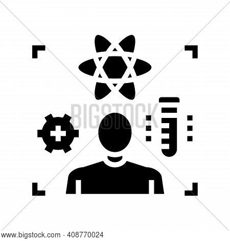 Science Expert Glyph Icon Vector. Science Expert Sign. Isolated Contour Symbol Black Illustration