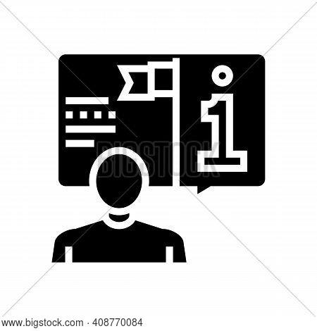 Information Expert Glyph Icon Vector. Information Expert Sign. Isolated Contour Symbol Black Illustr