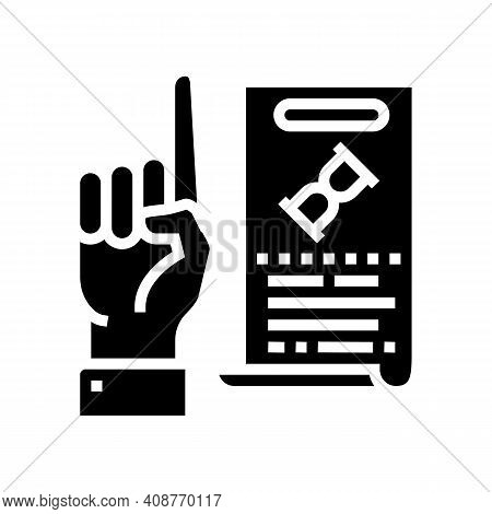 Opinion Expert Glyph Icon Vector. Opinion Expert Sign. Isolated Contour Symbol Black Illustration