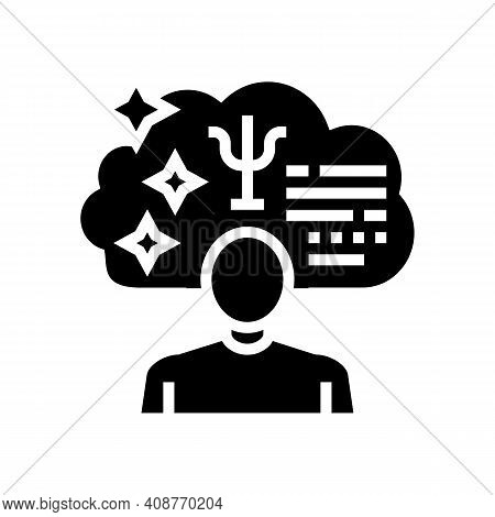 Psychological Expert Glyph Icon Vector. Psychological Expert Sign. Isolated Contour Symbol Black Ill