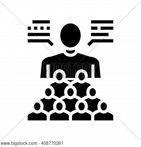 Social Expert Glyph Icon Vector. Social Expert Sign. Isolated Contour Symbol Black Illustration