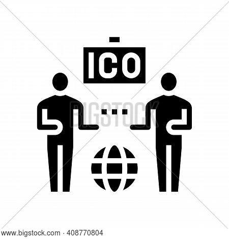 Investors Ico Glyph Icon Vector. Investors Ico Sign. Isolated Contour Symbol Black Illustration