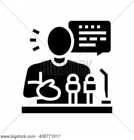 Relaiter Pr Glyph Icon Vector. Relaiter Pr Sign. Isolated Contour Symbol Black Illustration