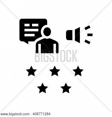 Reputation Pr Glyph Icon Vector. Reputation Pr Sign. Isolated Contour Symbol Black Illustration