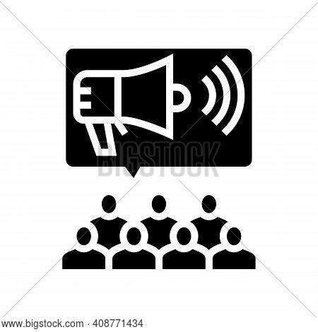 Public Relations Glyph Icon Vector. Public Relations Sign. Isolated Contour Symbol Black Illustratio