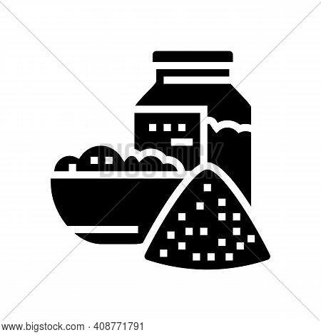 Salt For Bath Glyph Icon Vector. Salt For Bath Sign. Isolated Contour Symbol Black Illustration