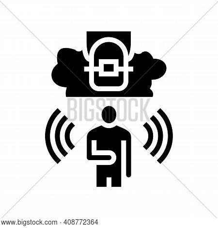 Fear Tooth Braces Glyph Icon Vector. Fear Tooth Braces Sign. Isolated Contour Symbol Black Illustrat