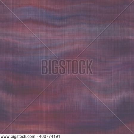 Variegated Tie Dye Retro Texture Background. Seamless Textile Linen Pattern Effect. Striped Blur Gru