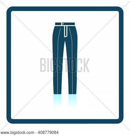 Business Trousers Icon. Square Shadow Reflection Design. Vector Illustration.