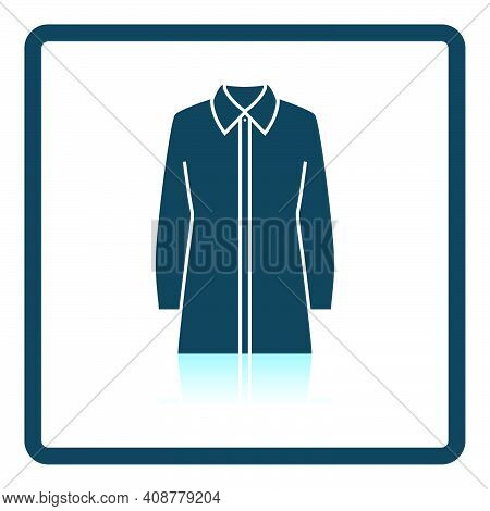 Business Blouse Icon. Square Shadow Reflection Design. Vector Illustration.