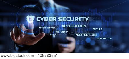 Cyber Security. Data Privacy. Cyber Attack Protection. Information Technology, Business And Internet