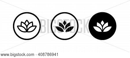 Lotus Flowers, Lotus, Lily Flower Icon. Spa Icons Button, Vector, Sign, Symbol, Logo, Illustration,