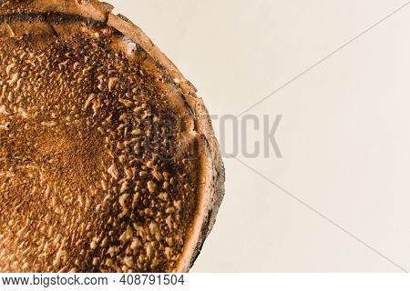 A Stack Of Pancakes At Shrovetide Isolated On A White Background.
