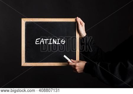 Eating And Food Intake Sign, Symbol For Diet And Nutrition