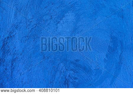 Old Wall Pattern Texture Cement Blue Dark. Abstract Blue Color Design Is The Gradient Background. Bl