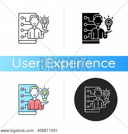 Emotional Design Icon. Delivering Positive Experiences For Users. Creating Emotional Connection Betw