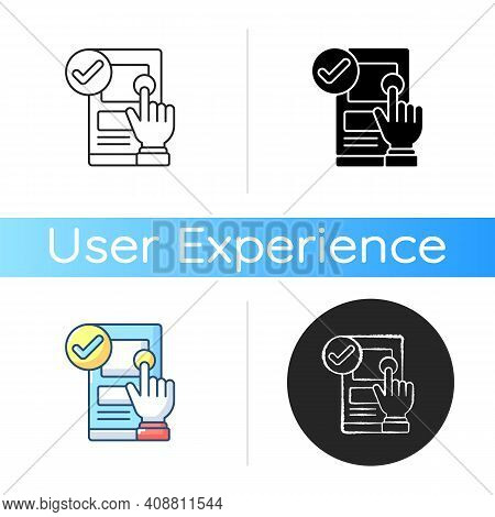 Usability Icon. Ease-of-use Improvement. User Interaction With Product, Website. Increasing Customer