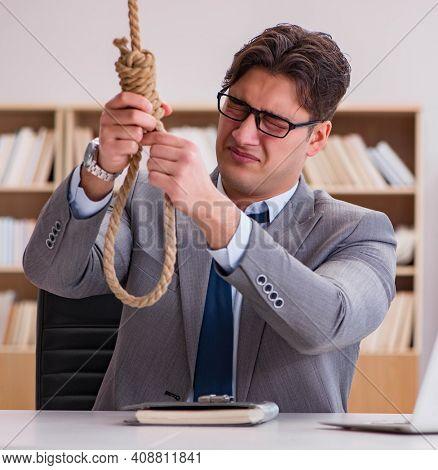 Bankrupt broke businessman considering suicide hanging himself
