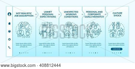 Unmet Personal Expectations Onboarding Vector Template. Personal And Corporate Goals Mismatch. Respo