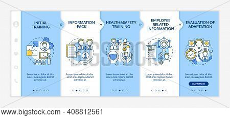 New Employee Orientation Onboarding Vector Template. Responsive Mobile Website With Icons. Responsib