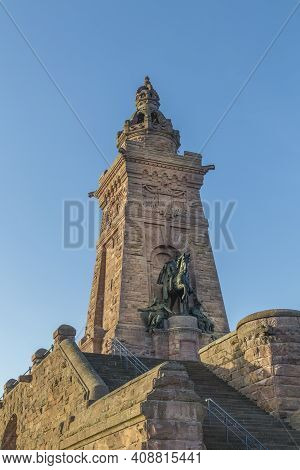 The Kyffhaeuser Monument Honoring The King Barbarossa In Thuringia, Germany