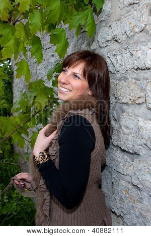 Girl Near The Wall