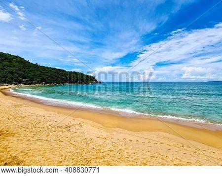 Awesome view of Ilhota beach in Itapema, Santa Catarina, Brazil