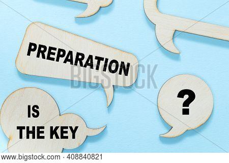 Preparation Is The Key. Concept Meaning It Reduces Errors And Shortens The Activities Empty Copy Spa