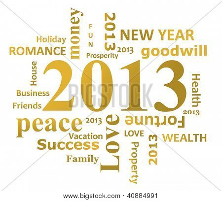 Year 2013 info graphic isolated on white background.