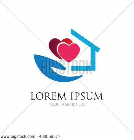 Home Care Logo Design Vector Icon Symbol