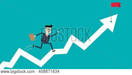 An Illustration Of Achieving The Target And Business Growth