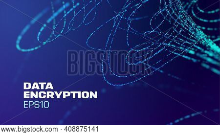 Data Encryption Technology Background. Computer Network Security Technology. Data Protection.