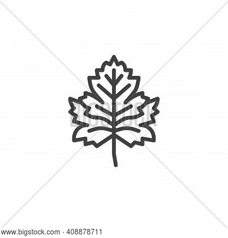 Parsley Herb Line Icon. Linear Style Sign For Mobile Concept And Web Design. Parsley Leaf Outline Ve