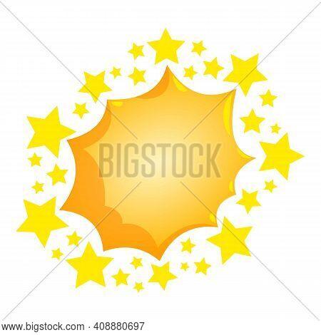 Cartoon Bursting Icon. Isometric Illustration Of Cartoon Bursting Vector Icon For Web