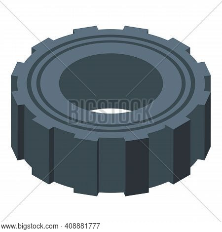 Tire Physical Activity Icon. Isometric Of Tire Physical Activity Vector Icon For Web Design Isolated