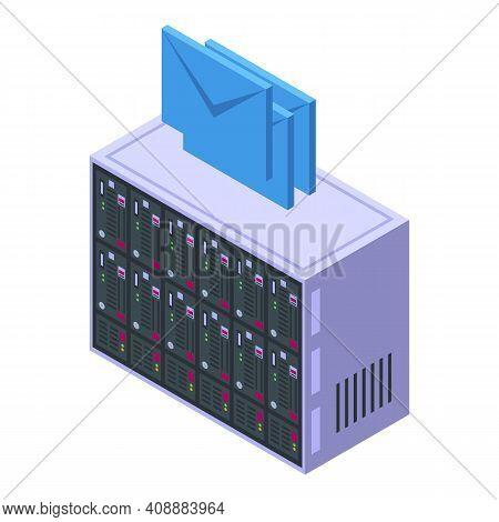 Customer Database Equipment Icon. Isometric Of Customer Database Equipment Vector Icon For Web Desig